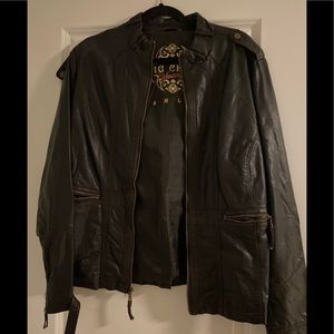 Big Chill Vintage Faux Leather Coat XL